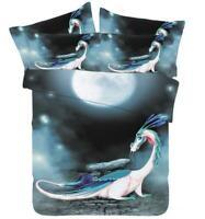 3D White Dragon ZHUA1684 Bed Pillowcases Quilt Duvet Cover Set Queen King Zoe