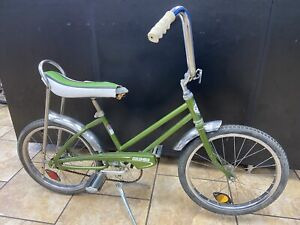 """1970s Vintage Clipper by Columbia 20"""" Kids Bicycle w/ motorcycle style stand"""