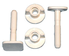2 White Replacement Toilet Seat Screws Hinges Fittings Parts A6 Bath Bathroom UK