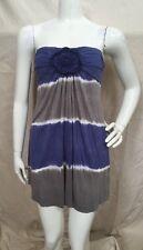 T-Party NEW!! Blue/Gray Tye-Dyed Micro Modal Strapless Mini Dress Sz S NWT!!!