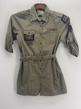 Cotton Express Army Green Blouse/Top Size Large
