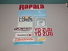 Fishing decal stickers (12) tackle box lure rod equipment bass supplies #1