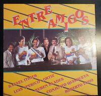 """VARIOS: """"Entre Amigos"""" Vinyl Record LP Salsa *Luis Perico Ortiz, Ruben Blades..."""