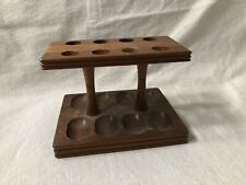 Vintage Estate Tobacco Eight Pipe Wooden Stand Decatur Industries Deco