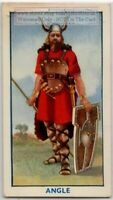 Ancient North German Angles Warrior Weapons 1930s Trade Ad Card