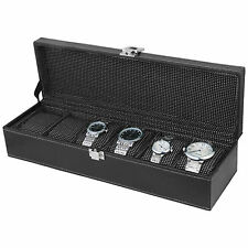 Watch Case | Watch Box | Watch Holder | Watch Organizer (Holds 6 Watches) - A&E