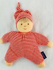 STERNTALER Red Striped Plush Rattle Boy Doll Lovey