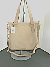FOSSIL Preston Large Straw Expandable Shopper w/Det. Strap  NWT $218+ Tax