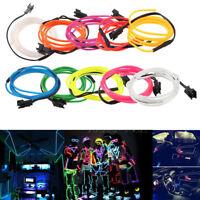 LED Car Interior Atmosphere Glow EL Wire Neon String Strip Lights Rope Tube Lamp