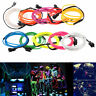 LED Car Interior Atmosphere Glow EL Wire Neon String Strip Lights Rope Tube Lamp