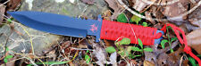 Factory X Knives - CODENAME: HAZARD Low Profile Drop Point (Red) ZOMBIE Knife