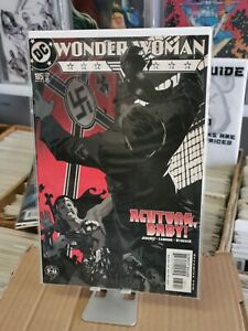 DC Comics Wonder woman #185 - Adam Hughes - Nazi Hitler getting punched cover