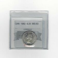 **1962**Coin Mart Graded Canadian, 25 Cent, **MS-63**