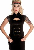 Hell Bunny Black Watch Top Steam Punk Gothic