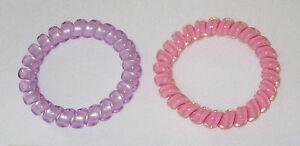 Swirly Do Hair Ties Pink Purple (2) Tangle Free Ponytail New SwirlyDo Large