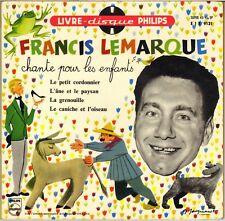 """LIVRE-DISQUE """"FRANCIS LEMARQUE CHANTE POUR LES ENFANTS"""" 60'S EP PHILIPS 9131"""