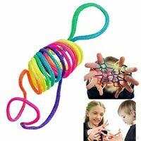 Rainbow Rope Jeu doigt jeu corde filament Ztringz casse tête Fais des figurines.