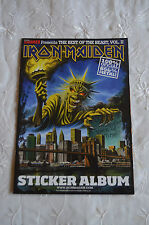Iron Maiden - The Best of The Beast, Vol. II Sticker Album + 13 Stickers Spanish