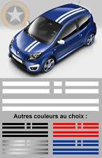 SET BANDES GORDINI POUR RENAULT TWINGO + CADEAU AUTOCOLLANT STICKER AUTO BD559