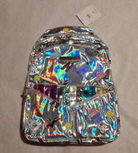 NWT Justice Girls Holo Sticker Pocket Backpack & Wristlet
