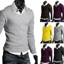 Herrenmode Strick Hemdkragen Pullover Warm Sweatshirt Pulli Strickjacke Sweater
