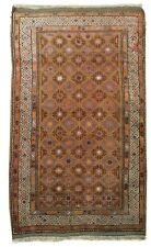 4x6 Lavander Bokhara All-Over Diamonds Tribal Wool Genuine Handmade Rug