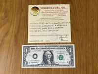 BANCONOTA STATI UNITI USA 1 DOLLARO 1995 RARA SOSTITUTIVA ASTERISCO qFDS
