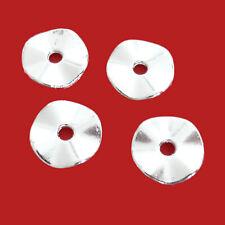1 Stück; N98 ca vergoldet Metallperle große Scheibe 19 mm