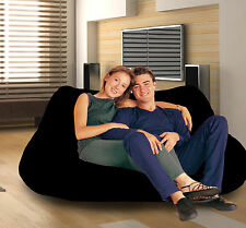 2 Seater BLACK bean bag