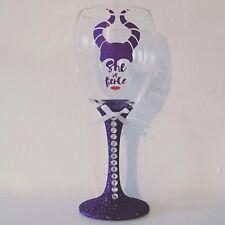 She Is Fierce Personalised Glitter Diamante Wine Glass