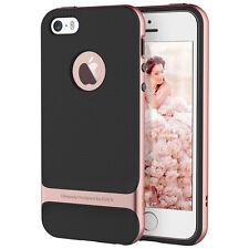 For iPhone SE 5S 5 Hybrid Ultra Slim Hard Bumper Soft Rubber Skin Case Cover+SCP