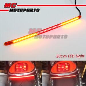 AMP-Z 30cm Red with Signal Light LED Tail Light bar Tube For Derbi motorcycles