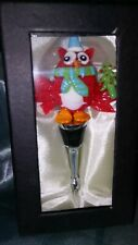 LSArts Wine Bottle Stopper, Christmas Owl
