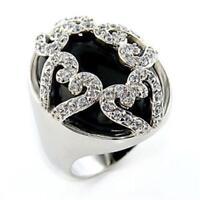 Semi-precious stone Energy Six Angle Column Crystal jewelry ring  AJS-A002