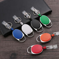 Belt ID Lanyard Badge Reel Retractable Pull Keychain Name Tag Card Holder