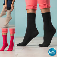 IOMI - 6 Pack Womens Wide Loose Top Non Binding Elastic Cotton Diabetic Socks