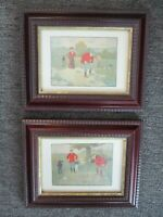 Vintage Victor Venner Chelsea Collection Framed Golf Prints Set Of 2