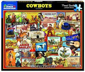 Cowboys 1000 piece jigsaw puzzle  760mm x 610mm   (wmp)