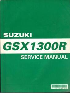 SUZUKI HAYABUSA GSX1300R,X,Y,K1,K2 1999-2002 ORIGINAL FACTORY WORKSHOP MANUAL