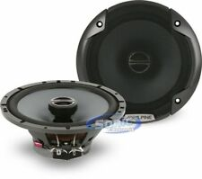 "ALPINE 480W 6.5"" 2-Way Type-E Coaxial Car Speakers w/ Silk Tweeters 
