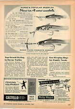 1963 ADVERT Burke's Flexo Products Fishing Lures Stone Action Turbo Ripple Cat