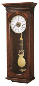 "620-433 HOWARD MILLER KEY WOUND CHERRY CHIME WALL CLOCK ""EARNEST"""