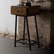 Wooden VintageRetro Side End Tables with Drawers eBay