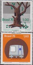 Brasilien 1559,1561 (kompl.Ausg.) postfrisch 1976 Umweltschutz, Metro