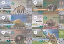 Pacific Ocean Set 6 banknotes 7-12 dollars 2016 Animals UNC Private issue