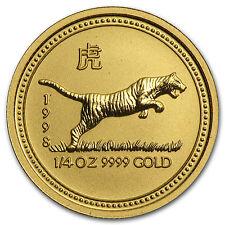 1998 1/4 oz Gold Lunar Year of the Tiger BU (Series I) - SKU #9000