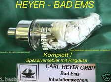 Aerosol nebulizzatori vetro PISTONE ugello ACCESSORI Heyer Medical piccolo inalatore