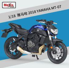 1:18 Maisto Yamaha MT-07 Motorcycle Bike Model New in Box Blue