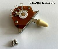 Cream Toggle Switch 5 way for Fender Strat Guitars - Nice Quality - in stock UK