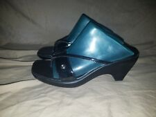 Tommy Hilfiger Martina Womens Size 6 Shiny Black Wedge Sandals Used Shoes Heels